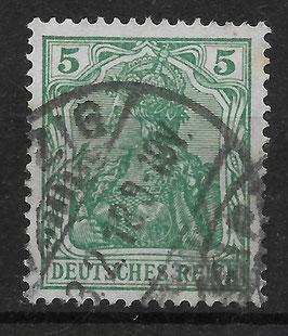 Deutsches Reich GERMANIA 85 IIa gestempelt (BPP JÄSCHKE) (2)