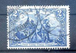 Deutsches Reich GERMANIA 95 A I gestempelt (BPP JÄSCHKE) (2)