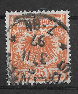Deutsches Reich KRONE & ADLER 49b gestempelt (BPP WIEGAND)