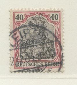 Deutsches Reich GERMANIA o. WZ 75 gestempelt