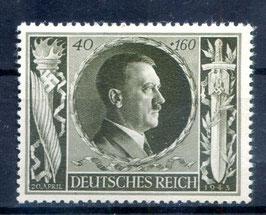 DR GEBURTSTAG von ADOLF HITLER 849 postfrisch