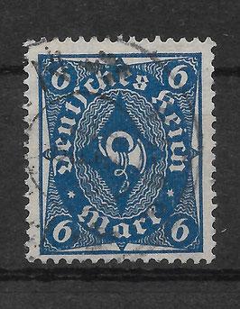 Deutsches Reich FREIMARKE POSTHORN 228 P gestempelt (INFLA)