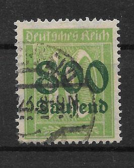 Deutsches Reich FREIMARKE 302 A gestempelt (INFLA)