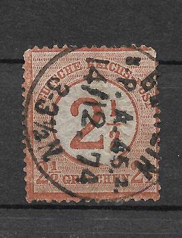 Deutsches Reich BRUSTSCHILD 29 gestempelt (BPP KRUG)