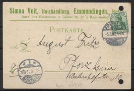 Deutsches Reich POSTKARTE 85 EF gestempelt (4)