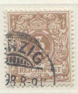 Deutsches Reich KRONE/ADLER 45c gestempelt (BPP JÄSCHKE) (IV)