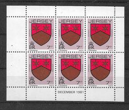 Jersey Kleinbogen 249 A postfrisch