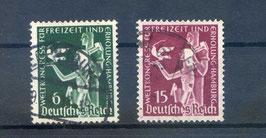 Deutsches Reich WELTKONGRESS für FREIZEIT und ERHOLUNG 622-623 gestempelt (3)