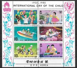Nordkorea Kleinbogen 1954-1961 gestempelt