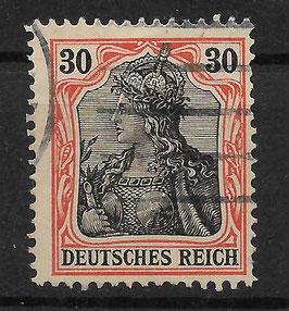 Deutsches Reich GERMANIA 89 Ix gestempelt (BPP JÄSCHKE) (2)
