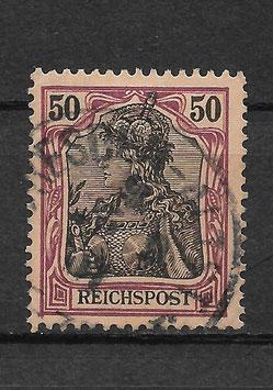 Deutsches Reich REICHSPOST 61 gestempelt (IV)