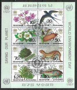 Nordkorea Kleinbogen 3346-3353 gestempelt