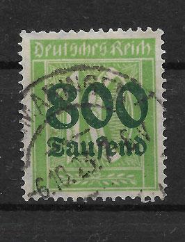 Deutsches Reich FREIMARKE 302 A gestempelt (INFLA) (2)