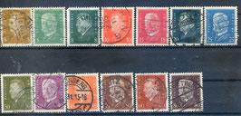Deutsches Reich FREIMARKE REICHSPRÄSIDENTEN 410-422 gestempelt (2)