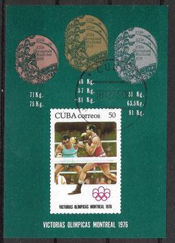 CUBA Block 49 gestempelt