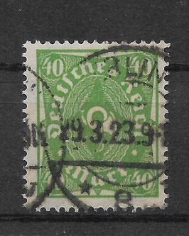 Deutsches Reich FREIMARKE POSTHORN 232 P gestempelt (INFLA)