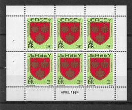 Jersey Kleinbogen 245 A postfrisch (2)