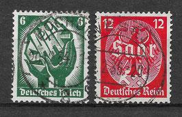 Deutsches Reich SAARABSTIMMUNG 544-545 gestempelt