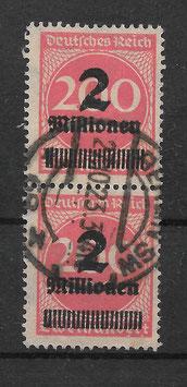 Deutsches Reich FREIMARKE 309 APa gestempelt als Paar (INFLA)