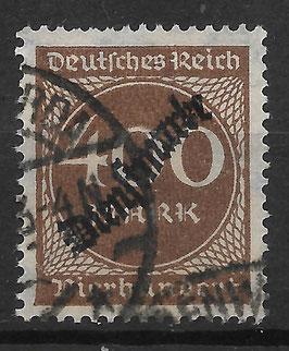 Deutsches Reich DIENST 80 gestempelt