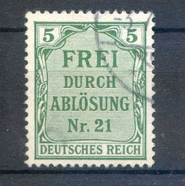 Deutsches Reich DIENST 3 gestempelt