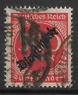 Deutsches Reich DIENST 81 gestempelt (INFLA)