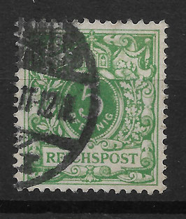 Deutsches Reich KRONE/ADLER 46c gestempelt (BPP JÄSCHKE) (II)