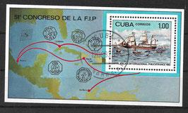 CUBA Block 72 gestempelt