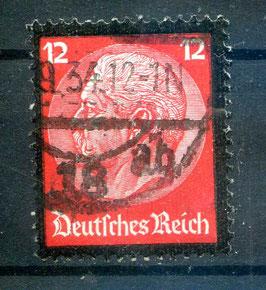DR FREIMARKE TOD von PAUL von HINDENBURG 552 gestempelt