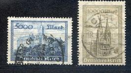 Deutsches Reich FREIMARKE 261-262 gestempelt