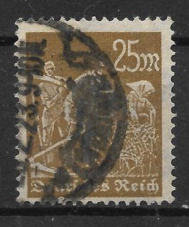 Deutsches Reich FREIMARKE ARBEITER 242 gestempelt