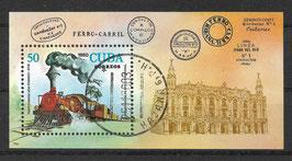 CUBA Block 65 gestempelt