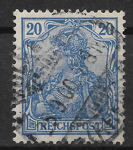 Deutsches Reich REICHSPOST 57 gestempelt (V)