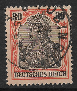 Deutsches Reich GERMANIA o. WZ 74 gestempelt (III)