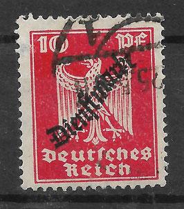 Deutsches Reich DIENST 107 gestempelt