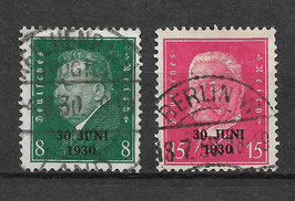 Deutsches Reich FREIMARKE 444-445 gestempelt (2)