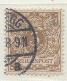 Deutsches Reich KRONE/ADLER 45c gestempelt (BPP JÄSCHKE) (III)