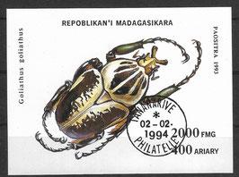 MADAGASKAR Block 254 gestempelt