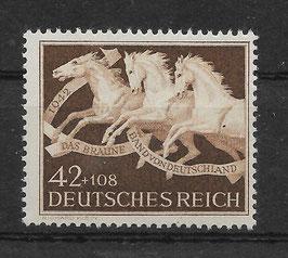 Deutsches Reich GALOPPRENNEN DAS BRAUNE BAND von DEUTSCHLAND 815 postfrisch (3)