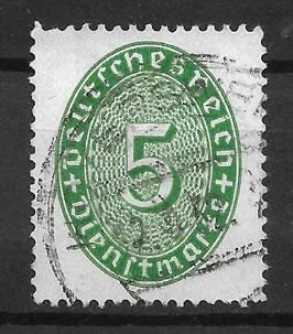 Deutsches Reich DIENST 115 X gestempelt