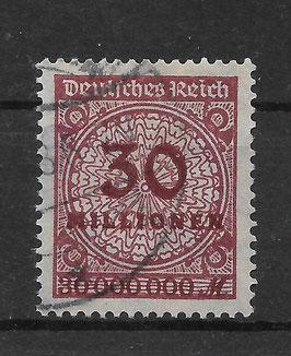 Deutsches Reich FREIMARKE 320 AW gestempelt (INFLA) (2)