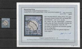 Deutsches Reich BRUSTSCHILD 10 Plattenfehler VII gestempelt (Befund BPP KRUG)