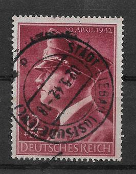 Deutsches Reich GEBURTSTAG von ADOLF HITLER 813x gestempelt