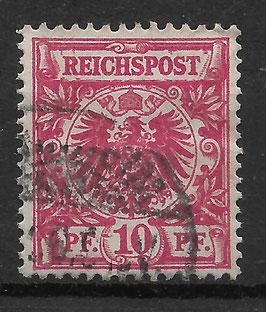 Deutsches Reich KRONE & ADLER 47d mit Plattenfehler V gestempelt (BPP WIEGAND) (2)