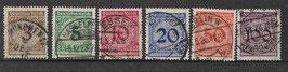 Deutsches Reich FREIMARKE 338-343 gestempelt (2)