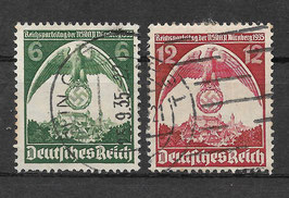 Deutsches Reich REICHSPARTEITAG 586-587 X gestempelt