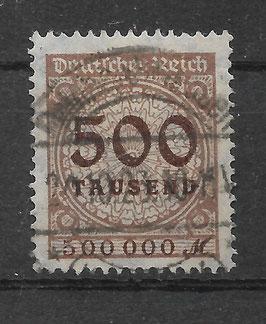 Deutsches Reich FREIMARKE 324 AP gestempelt (BPP BAUER)
