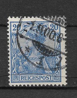 Deutsches Reich REICHSPOST 57 gestempelt (IV)