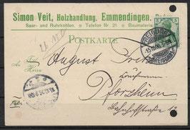 Deutsches Reich POSTKARTE 85 EF gestempelt (5)