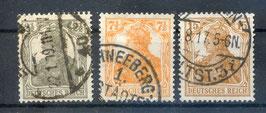 Deutsches Reich GERMANIA 98-100 gestempelt (3)